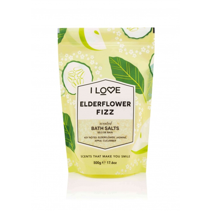 I LOVE ELDERFLOWER FIZZ BATH SALTS 500GR