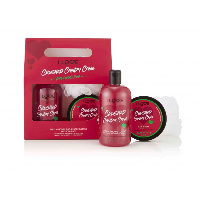 I LOVE CRUSHED CANDY CANE DELICIOUS DUO GIFT SET